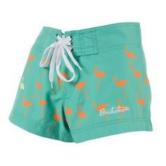 Flamingos Beach Shorts. Good for wearing with swimsuit