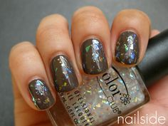 OPI You Don't Know Jacques + Color Club Covered In Diamonds