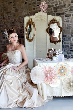 Marie Antoinette-Inspired Wedding decor