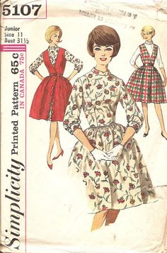 Sewing Pattern Dress and Jumper 1960s Vintage by TenderLane, $12.00