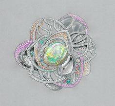 Jewelry Gouache on Behance