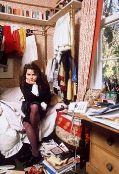 helena bonham carter at home, 1980s | Tumblr