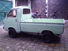 Suzuki 1980 Hijau Muda (D) Originale Small Trucks, Mini Trucks, Suzuki Carry, Bus Camper, Future Car, Pickup Trucks, Subaru, Caravan, Japanese