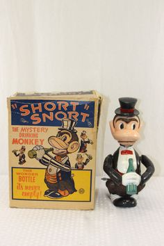 Marx Short Snort the Drinking Monkey Wind Up Toy from 50s  ebay