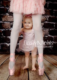 Annie: if you have a lil girl you have to get a pic like this!! baby ballerina. ADORABLE!