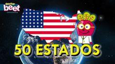 awesome Los 50 Estados y Banderas de Estados Unidos para niños | Banderas del mundo | EEUU | EUA | Geografia
