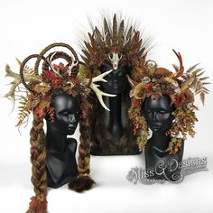 The se lovely woodland creatures are vegan friendly. Now available on Etsy.  See my other designs on instagram @missgdesigns  #headdress #headpiece #horns #antlers #antlerheaddress #autumn #nature #missgdesigns