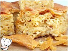 ΜΑΚΑΡΟΝΟΠΙΤΑ ΑΦΡΑΤΗ ΜΕ ΧΕΙΡΟΠΟΙΗΤΟ ΦΥΛΛΟ ΚΑΙ ΤΡΙΑ ΤΥΡΙΑ!!! - Νόστιμες συνταγές της Γωγώς! Cooking Time, Apple Pie, Tart, Pizza, Desserts, Recipes, Food, Apple Cobbler, Tailgate Desserts