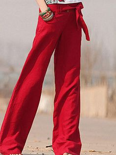 #Wholesale wide-leg flax pants for womens  Only$17.0    #skirts #shirts #tops #fashion clothing