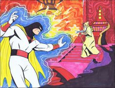 Space Ghost by Steve Rude Comic Book Characters, Comic Books Art, Comic Art, Book Art, Classic Cartoons, Cool Cartoons, Super Adventure, Space Ghost, Turner Classic Movies