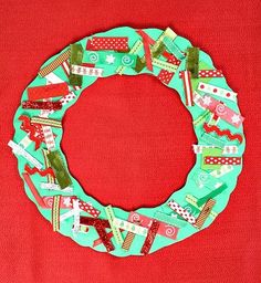 Ribbon Wreath Craft for Kids