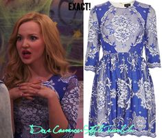 "Dove as Liv wore this floral dress on Liv & Maddie ""Kang-A-Rooney"" (October 6, 2013) and in an interview with KTLA Topshop China Blue Lace Skater Dress Sold Out"
