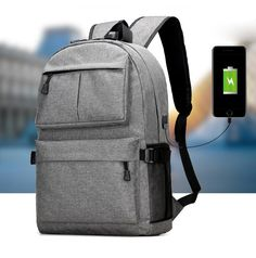 Fashion Backpacks USB Design Backpack Book or Laptop Bags