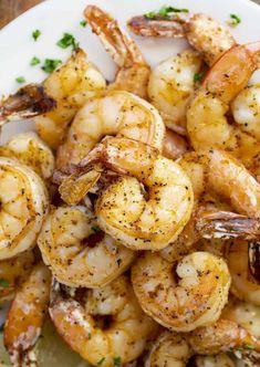The BEST Air Fryer Shrimp - I Am Homesteader Air Fry Recipes, Air Fryer Dinner Recipes, Shrimp Recipes Easy, Air Fryer Recipes Easy, Ww Recipes, Fish Recipes, Seafood Recipes, Cooking Recipes, Baked Chicken Meatballs