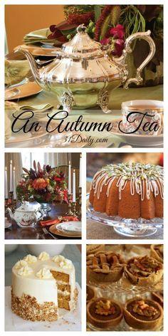 An Afternoon Autumn Tea: Celebrating a Glorious Season - Tea Party! Afternoon Tea Recipes, Afternoon Tea Parties, Fall Tea Parties, Winter Tea Party, Christmas Afternoon Tea, Christmas Tea Party, Summer Parties, Tee Sandwiches, High Tea Sandwiches