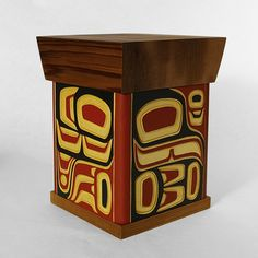 Lattimer Gallery - Jim Charlie - Bentwood Box - Eagle and Raven