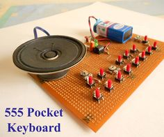 Hello every body, this is a 555 timer-musical-keyboard project, with exact sounds of the key, i saw a project here...https://www.instructables.com/id/555-Pocket-SynthKe...but in this project, the keys don't give exact notes, so i designed a few things, added a few potentiometers to the circuit which helps to adjust to the exact notes you have in a normal keyboard...You can see that the sound created by the keyboard is quite nice, and try to recognize the song i played ...