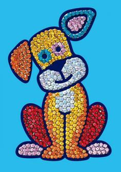 Sequin Magic Puppy- £4.75 + P & P available from Cathedral Crafts & Kits.  Use the magic pen to place sequins onto a self-adhesive picture.  Kit Contains: 1 pre-printed guideline illustration, 1 magic tool and sequins.  Adult Supervision recommended. Suitable for children of 5 years and over.