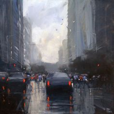 The Wet Cityscape with Acrylic Artist Mike Barr - Artist's Network