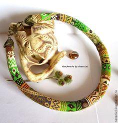 """Купить Жгут """"Осеннее очарование"""" из мелкого японского бисера - разноцветный, жгут из бисера, мелкий бисер"""