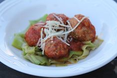 meatballs and zucchini