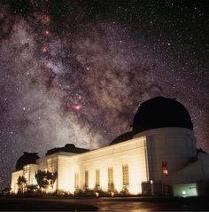 Griffith Park Observatory at Night - Stars