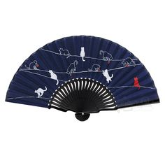 Step set – Navy|Ladies' Fabric Folding Fans…