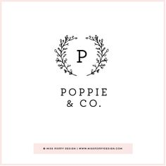 POPPIE & CO PRE DESIGNED LOGO www.misspoppydesign.com