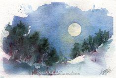 January's Blue Moon Rising