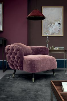 The Button Upholstered Designer Velvet Tub Chair, every inch a statement of outstanding elegance and design...