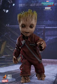 GUARDIANS OF THE GALAXY VOL. 2: Baby Groot Gets A Life-Size And Incredibly Detailed Hot Toys Action Figure