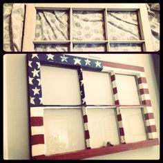 Make your July decorations even more crative and special with DIY Patriotic Day wooden crafts. These wood working projects are perfect for summer. Americana Crafts, Patriotic Crafts, July Crafts, Old Window Projects, Craft Projects, Window Ideas, Window Frames, Shutter Projects, Auction Projects