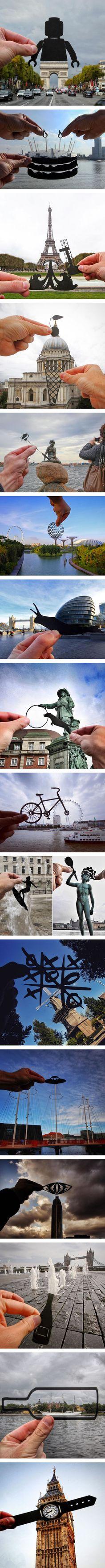 Photographer Transforms Landmarks Using Paper Cutouts