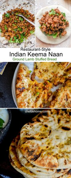 Indian Restaurant-Style Traditional Keema Naan - Ground Lamb Stuffed Naan for an Easy Indian Breakfast or Dinner at Home | chefdehome.com