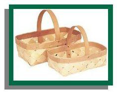 0318-Wooden Diamond Weave Baskets