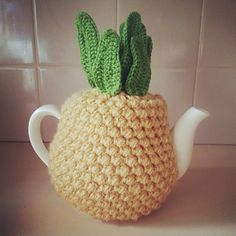 Ravelry: Pineapple Tea Cosy free pattern by Tea and Craft. I love this!!!