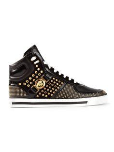 Versace Studded Medusa Hi-top Sneakers -