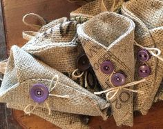 hessian flowers   hessian pew ends dried flower holder £ 8 00 gbp summerlilygifts