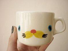 porcelain critter cup