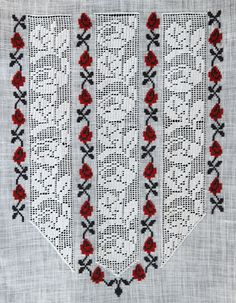 Hardanger Embroidery, Folk Embroidery, Hand Embroidery Designs, Embroidery Patterns, Crochet Patterns, Cross Stitch Geometric, Palestinian Embroidery, Drawn Thread, Mccalls Sewing Patterns