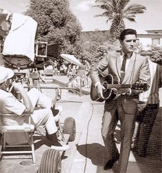 Elvis between scene for his movie sequence of the song ( The lady loves me ) summer 1963.