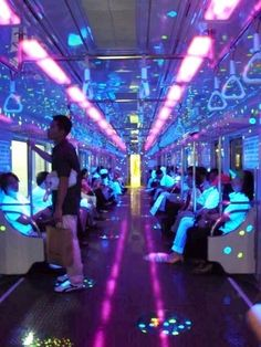 South Korean lighted subway train. SOOO COOL!