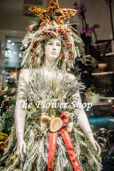 Thessaloniki showcase flowershop decoration