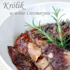 królik w winie i rozmarynie