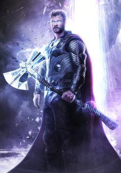 Artstation - avengers endgame - thor and the bifrost, mizuri official