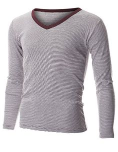 FLATSEVEN Mens Casual Small Striped V-Neck Long Sleeve Tee Shirt (TVL1001) Wine, L FLATSEVEN http://www.amazon.com/dp/B00PP8I1R6/ref=cm_sw_r_pi_dp_pZl1ub0A2M2VX