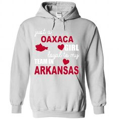 Just A Oaxaca Girl loyal to my team in Arkansas - #teacher gift #gift bags. ACT QUICKLY => https://www.sunfrog.com/States/Just-A-Oaxaca-Girl-loyal-to-my-team-in-Arkansas-White-Hoodie.html?68278