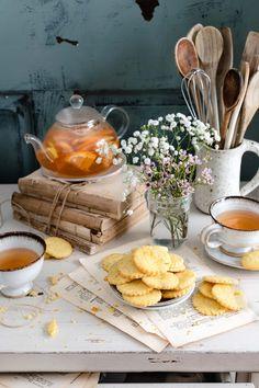 Jenn Davis Food Photographer Tea and Cookies