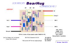 New compressor build - Bearhug Comp w/ vero layout Guitar Diy, Guitar Pedals, Link, Layout, Page Layout