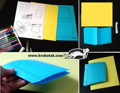 DIY invitation card or certificate – the magic book